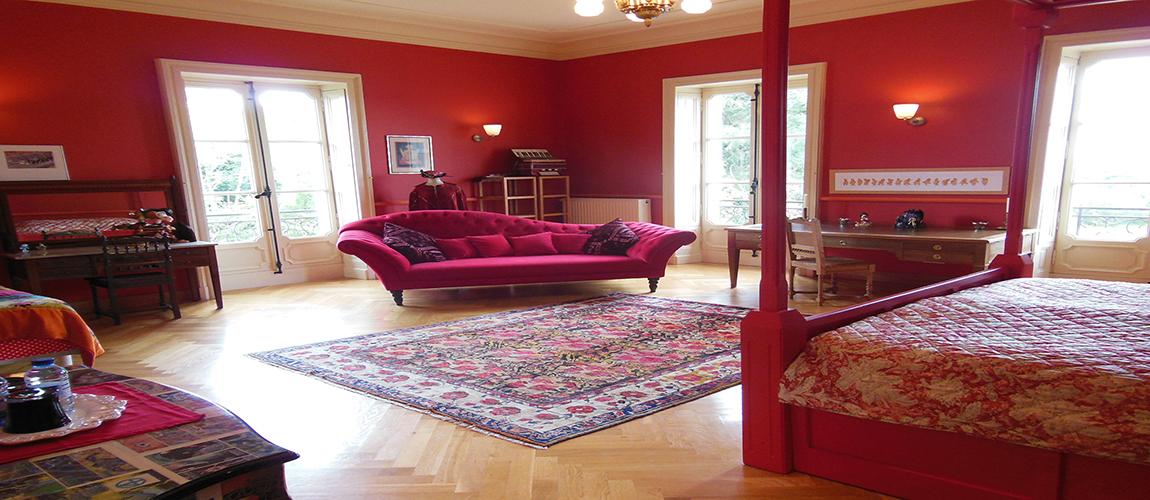 La Chambre Baron Rouge au Château